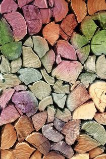 farbenstapel  -  colorful wood von augenwerk