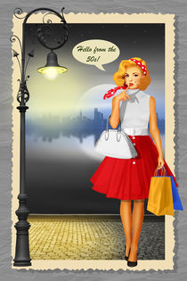 Hello from the 50s Shopping Girl von Monika Juengling