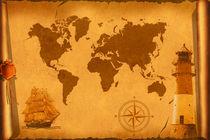 Weltkarte nostalgisch von Monika Juengling