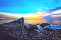 ocean sunset view with beautiful blue cloudy sky by timla