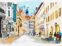Dresden, Schlossstraße mit Georgentor by Hartmut Buse