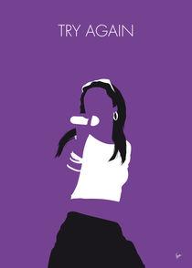 No071 MY Aaliyah Minimal Music poster by chungkong