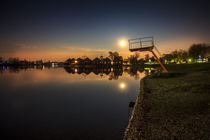 Sunny Lakes at night by Zoltan Duray