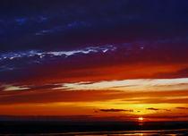 Liverpool Bay at sunset by John Wain