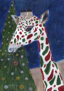'Christmas Giraffe' von Jamie Frier