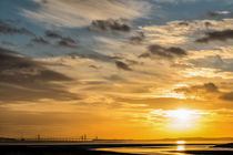 Severn Bridge Sunset by David Tinsley