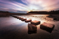 'Three Cliffs Bay stepping stones' by Leighton Collins
