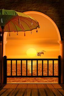 Platz zum Sonnenuntergang by Monika Juengling