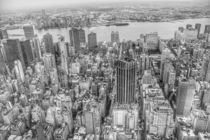 Manhattan New York black and white von wamdesign