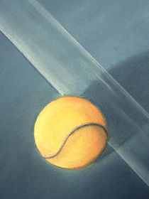 Tennisspiel - Tennismatch - Tennisball - Kunst - Malerei von Edeltraut K.  Schlichting