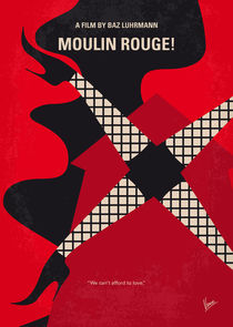 No713 My Moulin Rouge minimal movie poster von chungkong