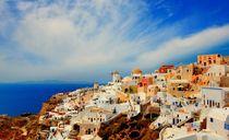 On the island of Santorini, Greece by Yuri Hope
