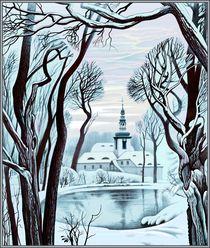 Winter. Kloster St. Marienthal von Konstantin Beider