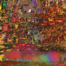 Rainbow pond by Helmut Licht