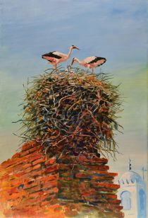 Nesting-storks-ac-on-board-24x36in-x-1