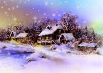 Winter am See von E. Axel  Wolf