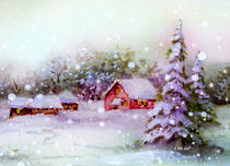 Winter Idyll by E. Axel  Wolf