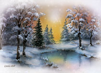 Winterwald by E. Axel  Wolf