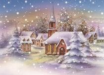Winter Kirche von E. Axel  Wolf