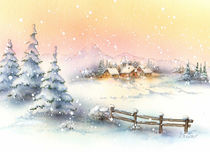 Weihnachts-Idyll by E. Axel  Wolf