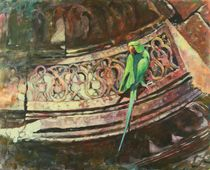 Rose-ringed-parakeet-30x24in-ac-on-board