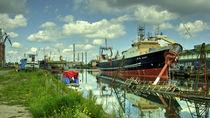 Blaengur  at Gdansk Shipyard  by Rob Hawkins
