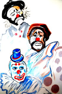 CLOWNS LOOKING  AT YOU von Nora Shepley