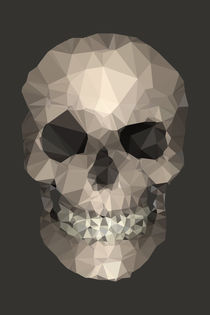 Polygons-skull-brown