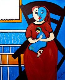 GIRL WITH BABY von Nora Shepley