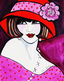 1920'S FLAPPER GIRL ROSE by Nora Shepley