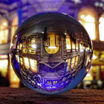 Winter scene through the crystal ball / Glass Ball Photography by Ralf Schröer