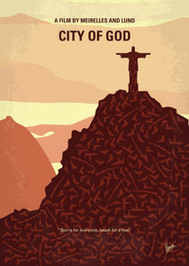 No716 My City of God minimal movie poster von chungkong