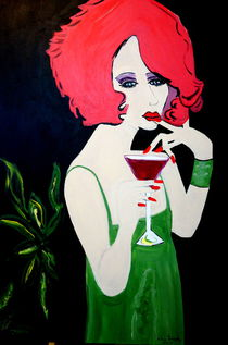 WOMAN WITH RED HAIR by Nora Shepley
