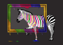 Rainbow Zebra by Monika Juengling