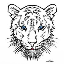 Albino Tiger Design by Vincent J. Newman