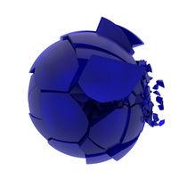 Broken-blue-mat-glass-ball