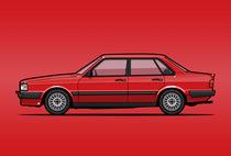Illu-audi-b2-sedan-red-poster