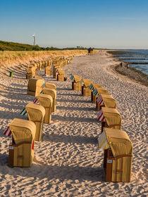 Strandkörbe an der Ostseeküste von Rico Ködder