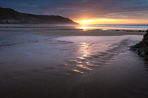 Caswell Bay beach stream von Leighton Collins