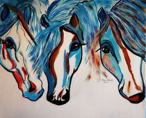 THE 3 AMIGOS   HORSES by Nora Shepley