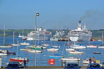 Harbour and Queen's Wharf, Falmouth von Rod Johnson