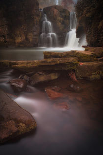Misty Penllergare falls Swansea by Leighton Collins