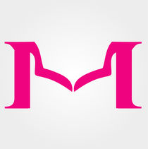 Alphabet M designed with womans neckline  by Shawlin Mohd