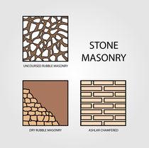 Diagrams of stone masonry  von Shawlin Mohd