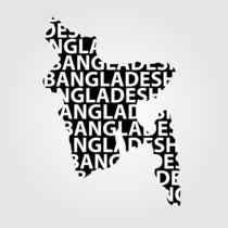Map of Bangladesh with text inside  von Shawlin Mohd