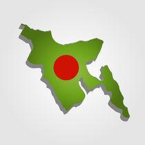 Map of Bangladesh  von Shawlin Mohd