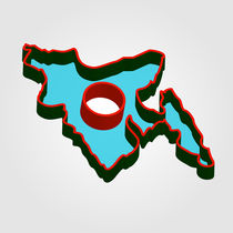 Map of Bangladesh with in red and green colors von Shawlin Mohd