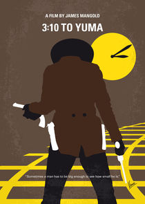 No726 My 310 to Yuma minimal movie poster by chungkong
