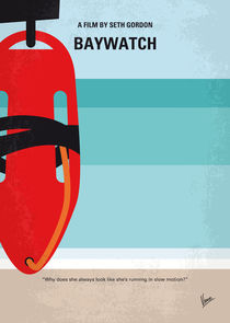 No730 My Baywatch minimal movie poster by chungkong