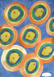 Merry Circles arranged to a big Circle  by Heidi  Capitaine